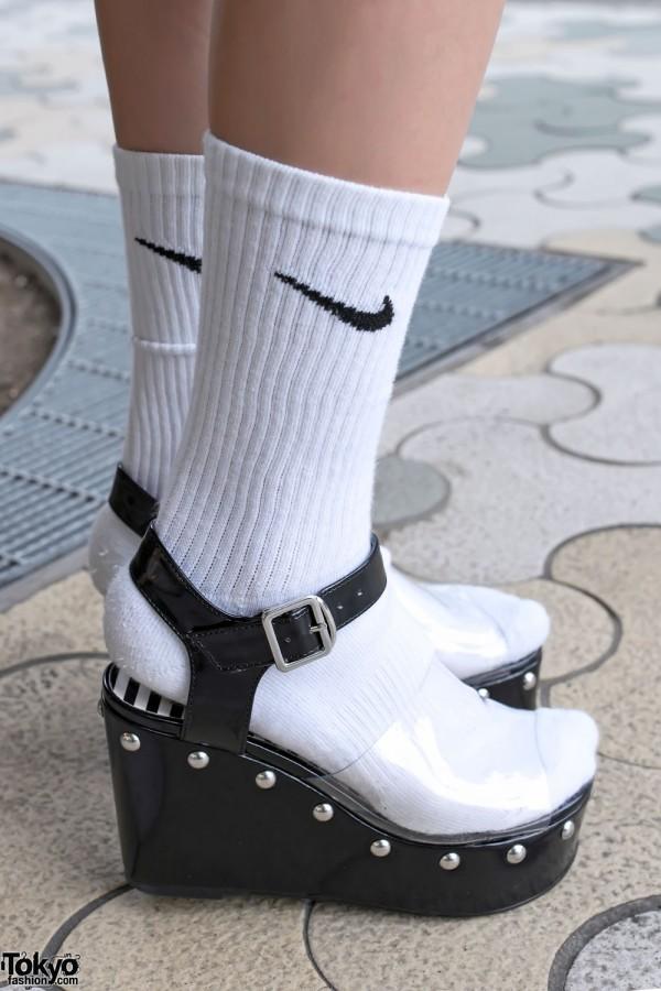 Sock and Platform Sandals