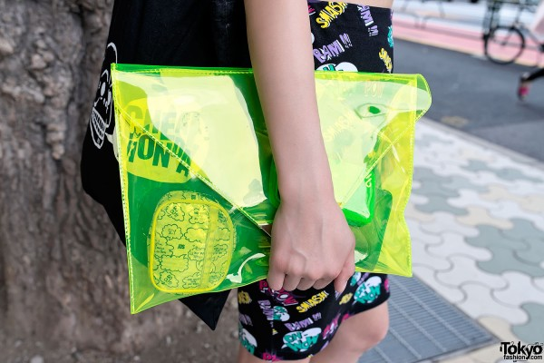 Yellow Transparent Envelope Clutch