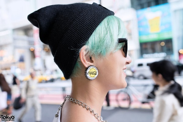 Coca-Cola Bottle Cap Earrings