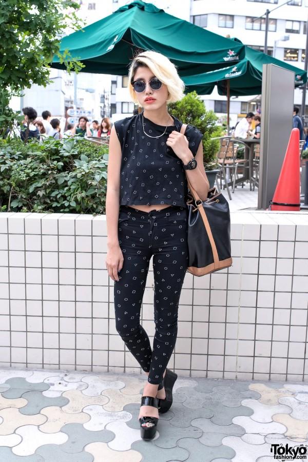 iTokyoMe Monochrome Print Fashion, Emoda & Adidas in Harajuku