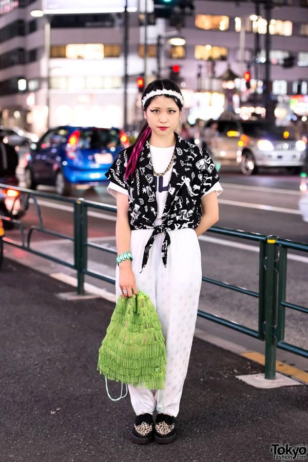 Harajuku Girl w/ Cat Eye Makeup, Resale Fashion & Underground Creepers