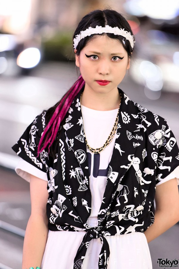 Cat Eye Makeup in Harajuku