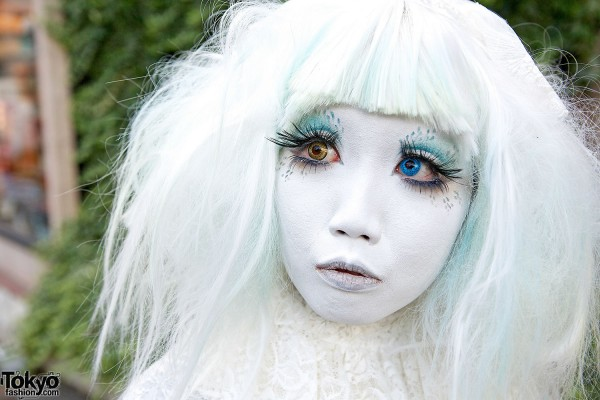 Shironuri Makeup & Color Contacts