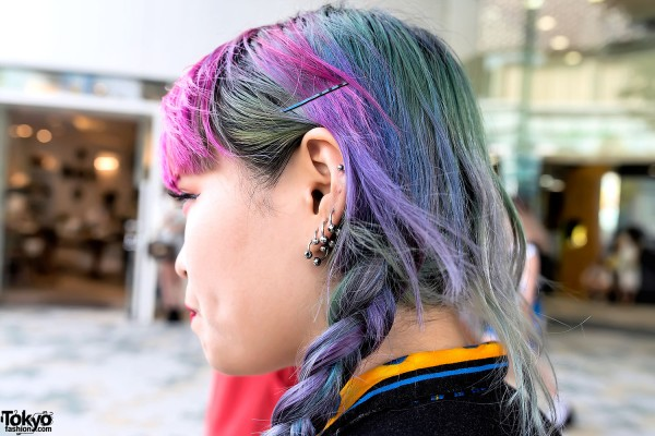 Pink And Purple Hair Styles: Pink Bangs, Purple Braids, Flame Print & Cute To The Core