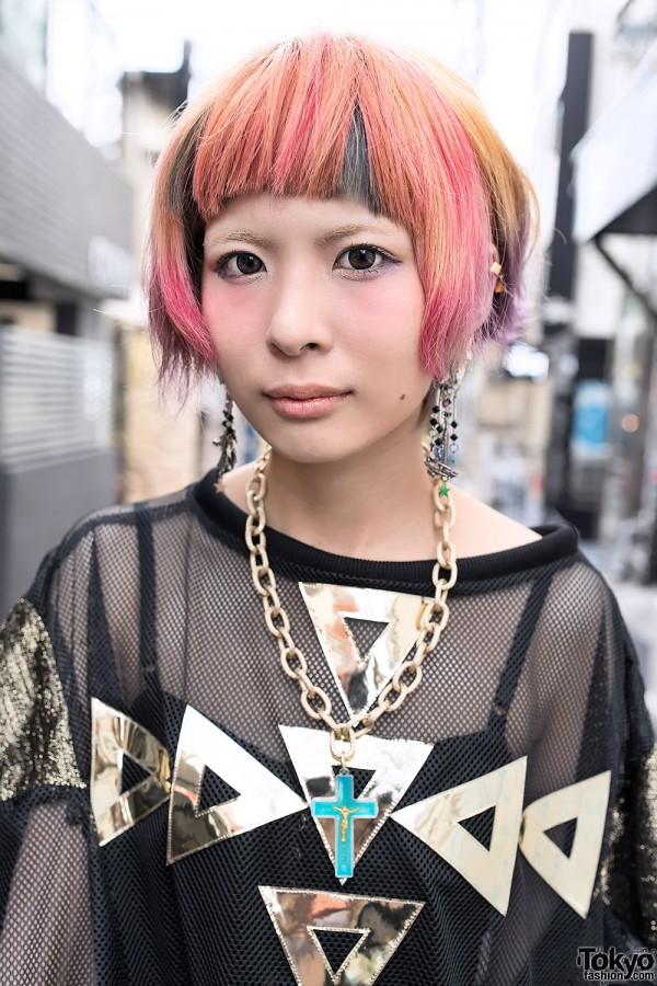Short Rainbow Hairstyle in Harajuku