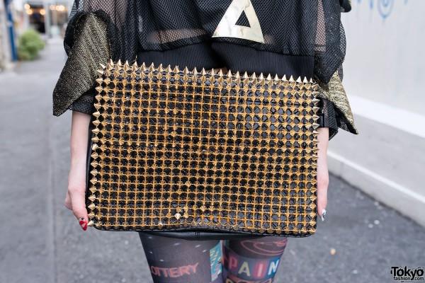Handmade Gold Studded Purse