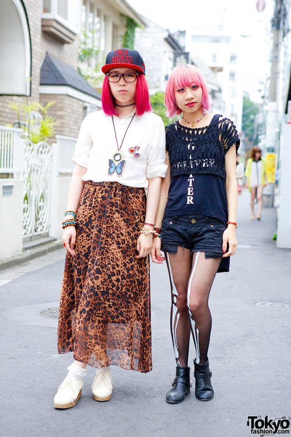 Harajuku Girls With Pink Hair