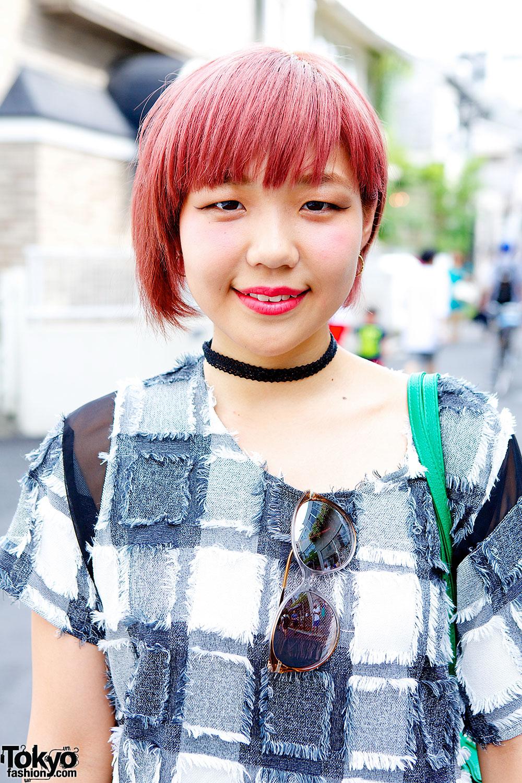 I Am I Stripes Pink Hair Sandals Amp Lips Earrings In Harajuku