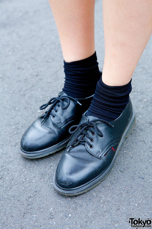Black Oxfords Amp Socks Tokyo Fashion News