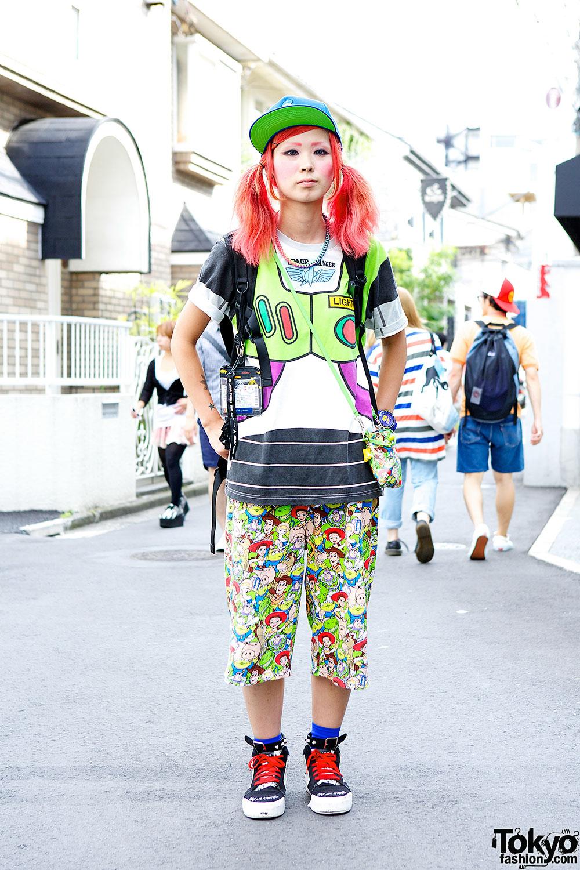 Pink Twin Tails, Cartoon Pants & Candy Stripper X Amoyamo