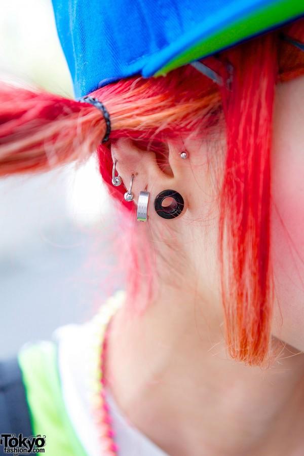 Pink Hair & Piercings
