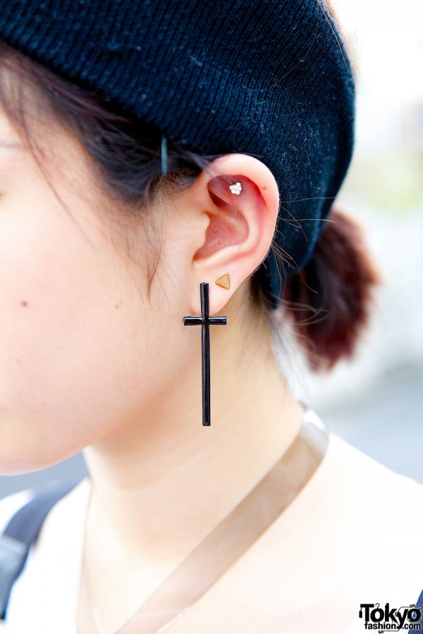 Pin Nap Cross Earrings