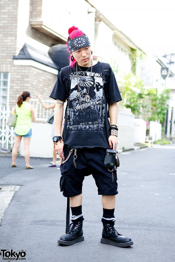 Punk Fashion in Harajuku w/ Trive Shorts