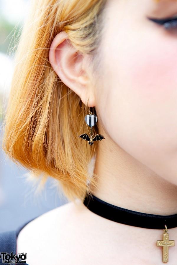 Handmade Bat Earring