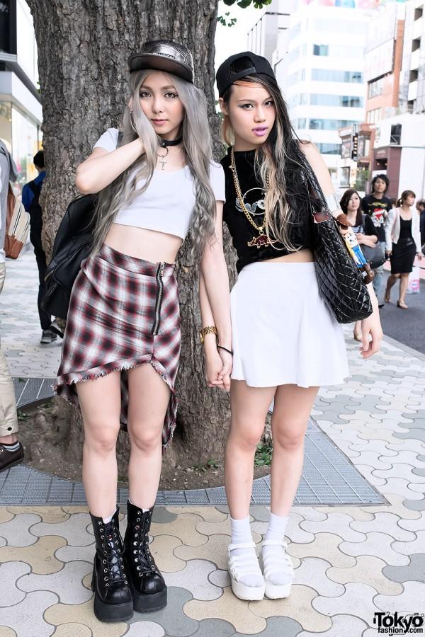 Crop Tops & Skirt Fashion in Harajuku
