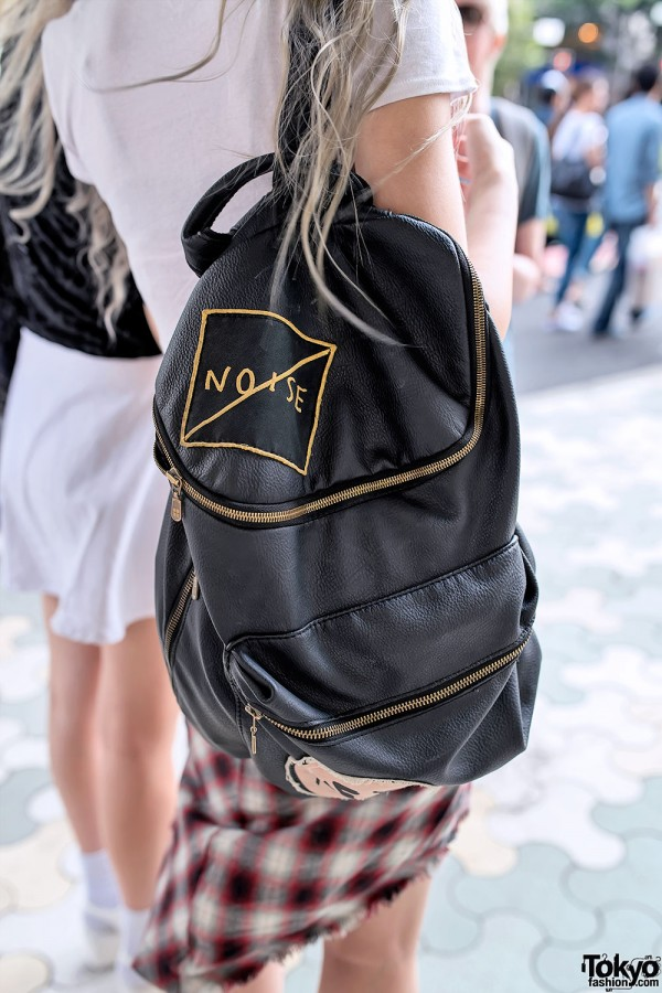 No Noise Leather Backpack in Harajuku