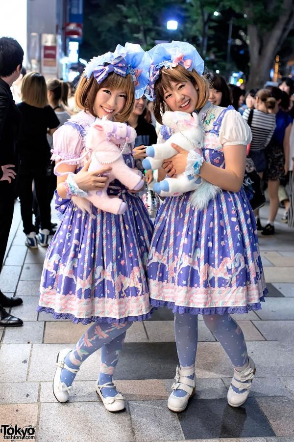 Harajuku Sweet Lolitas w/ Matching Angelic Pretty Fashion & Pony Bags