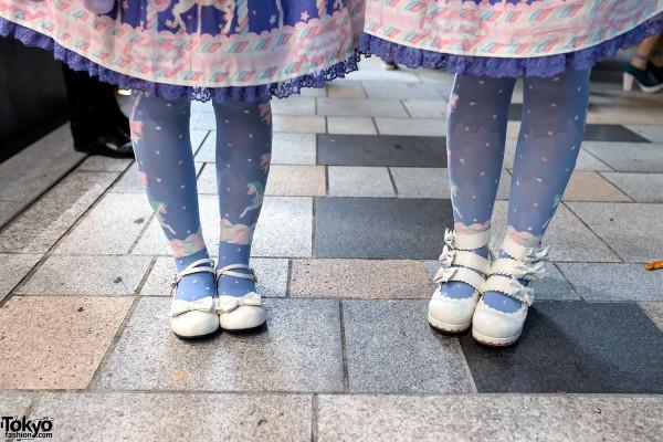 Sweet Lolita Bow Shoes in Harajuku
