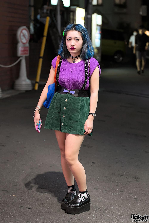 Suspender Skirt & Sweater