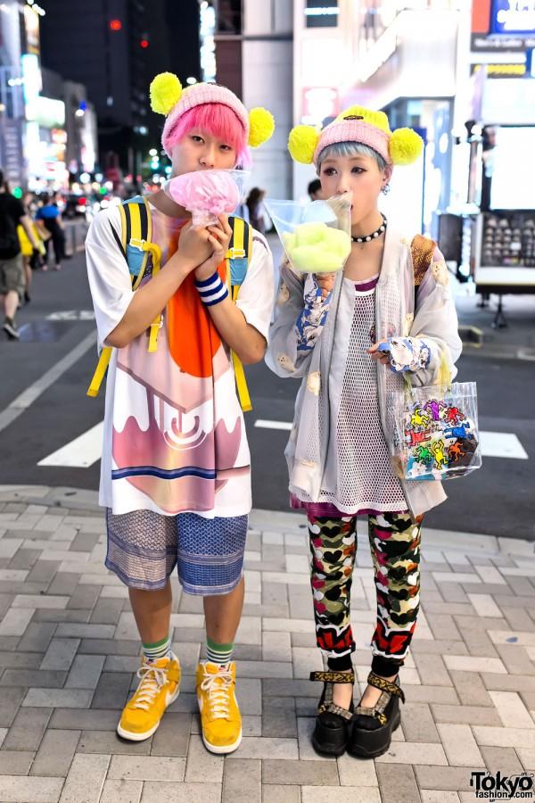 Pink vs. Blue Hair, Mikio Sakabe, 5okai & Cotton Candy in Harajuku