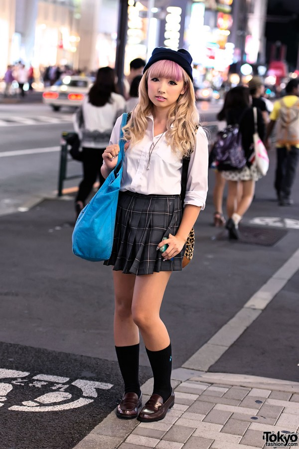 Japanese School Uniform in Harajuku