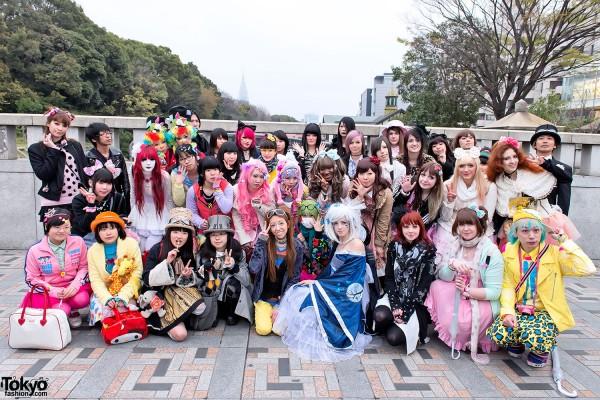 Harajuku Fashion Walk at Jingu Bashi