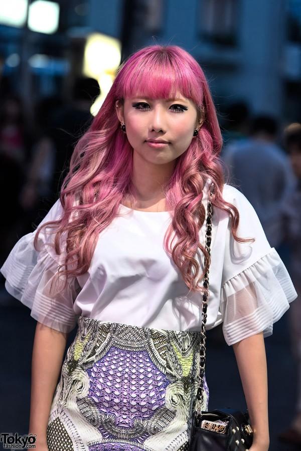 Pretty Pink Harajuku Hairstyle