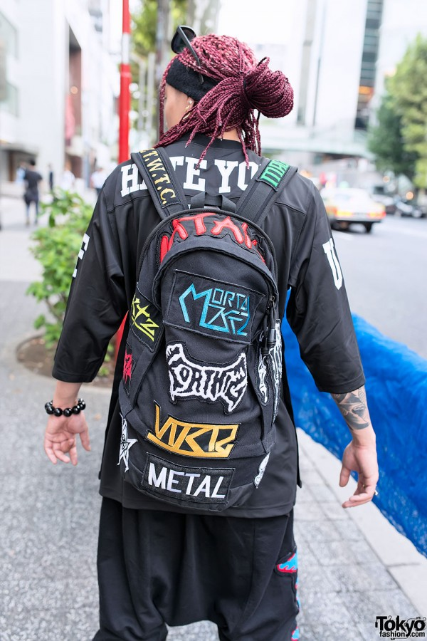 Patched KTZ Backpack in Harajuku
