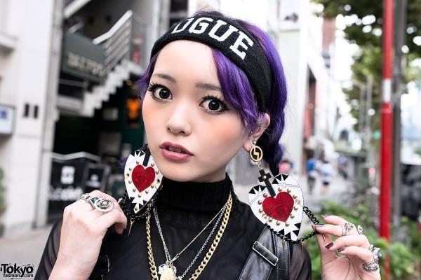 Purple Hair & MYOB Earrings