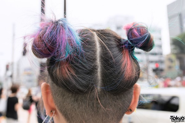 Rainbow Odango Hairstyle
