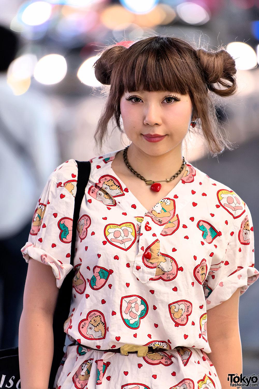 Kawaii Harajuku Street Style w/ Spank Creepers &amp Odango Hair - 90'S Hairstyles