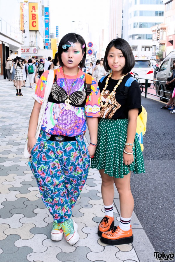 Harajuku Girls in Colorful Fashion