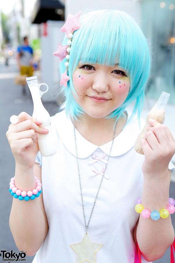 Blue Hair & Fairy Kei in Harajuku
