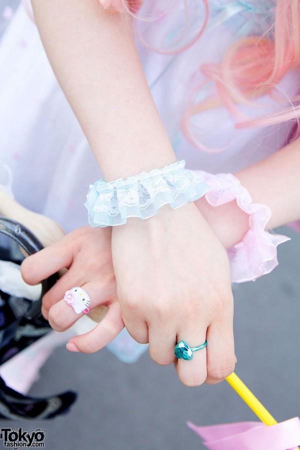 Lace Cuffs & Hello Kitty Ring