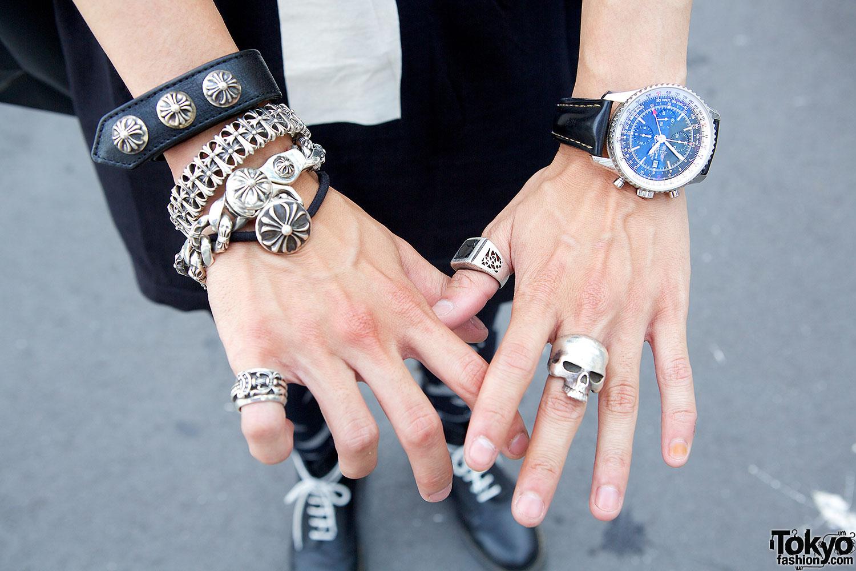 chrome hearts silver bracelets � tokyo fashion news