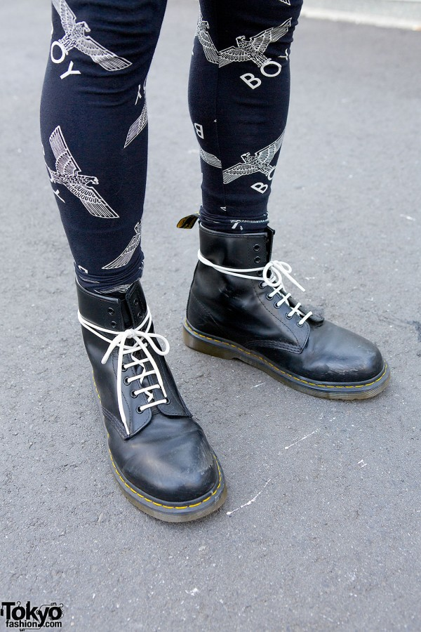 Boy London Leggings & Dr. Martens