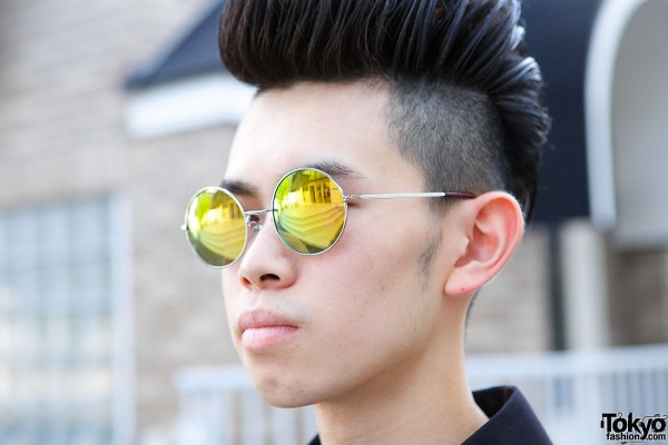 Sunglasses & Shaved Harajuku Hairstyle