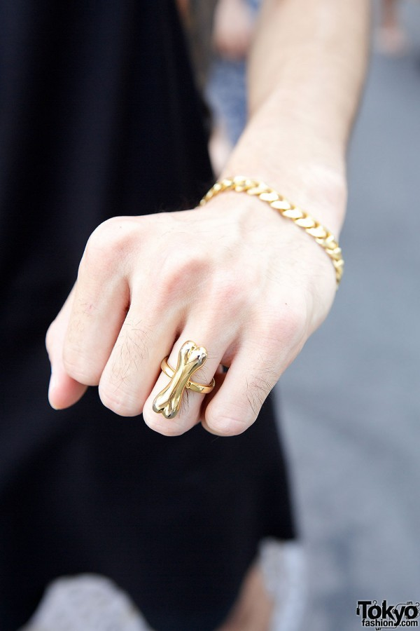 Gold Bone Ring