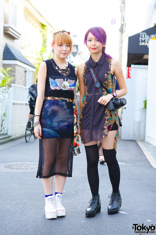 Harajuku Girls in Sheer Outfits