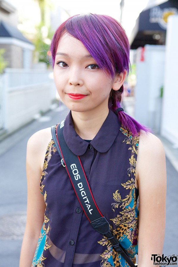 Cheap Watch Brands >> Pink & Purple Hair, Sheer Layers, Over-The-Knee Socks & Platforms in Harajuku