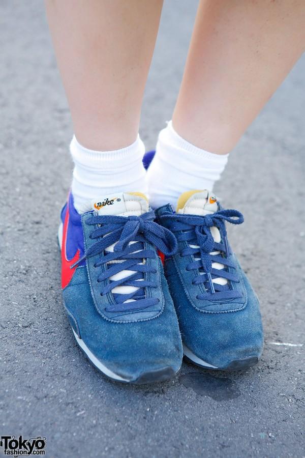 Retro Nike Sneakers in Tokyo