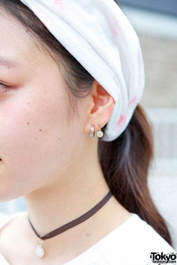 Bubbles Headscarf & Earrings