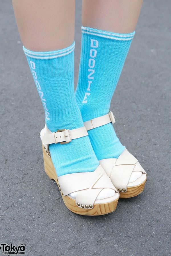 Zara Sandals & Style Icon Tokyo Socks