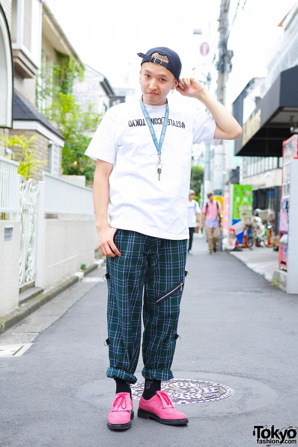 Vintage Plaid Pants in Harajuku