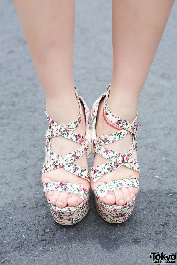 Forever21 Floral Sandals