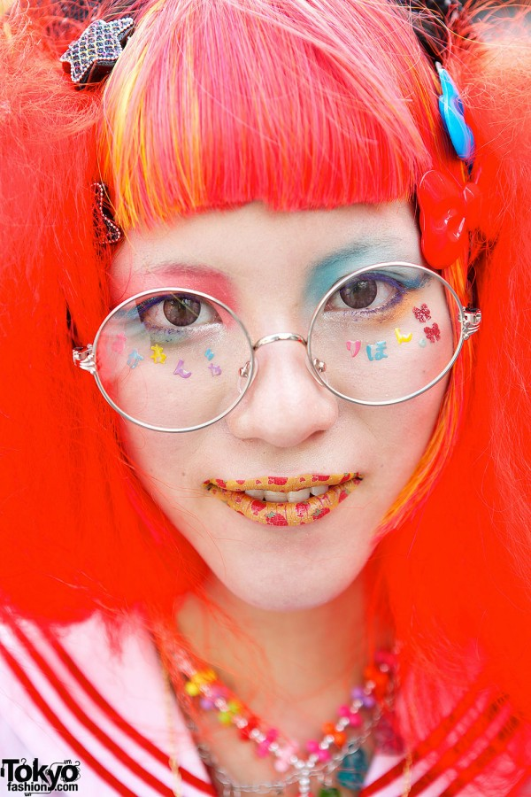 Colorful Make-up & Glasses