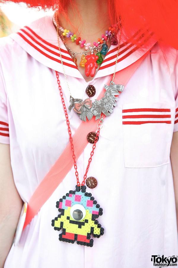 Sailor Top & Necklaces