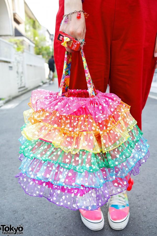 Rainbow Ruffle Bag
