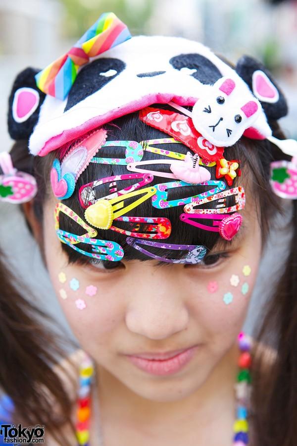 Decora Hair Clips & Panda Mask