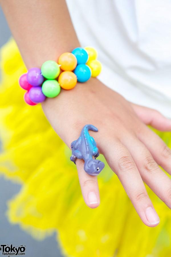 Dinosaur Ring & Beads Bracelets